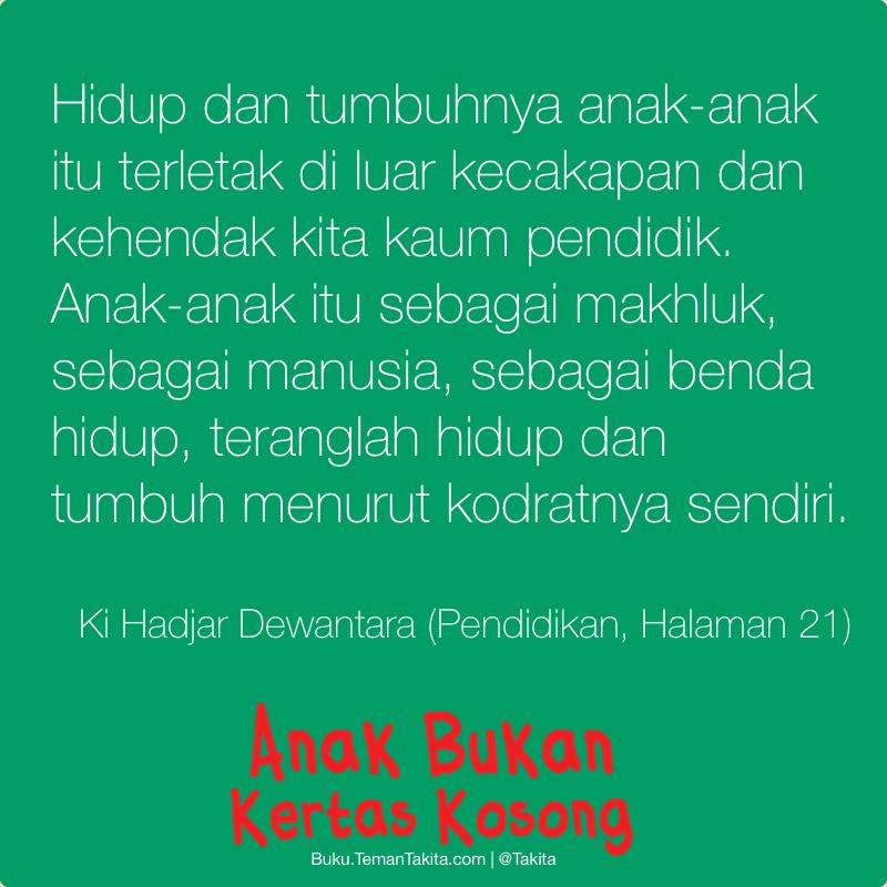 Poster Anak Bukan Kertas Kosong Ki Hajar Dewantara 1