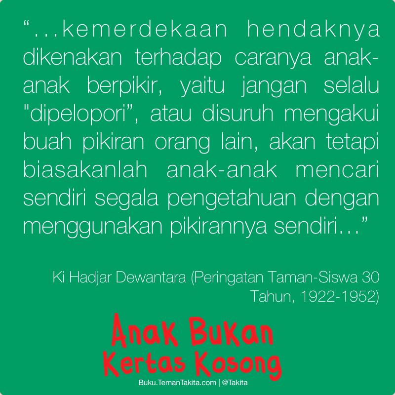 Poster Anak Bukan Kertas Kosong Ki Hajar Dewantara 2