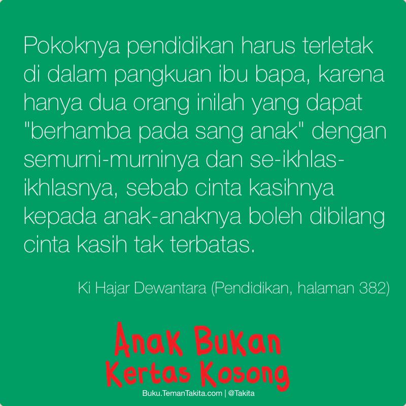 Poster Anak Bukan Kertas Kosong Ki Hajar Dewantara 3