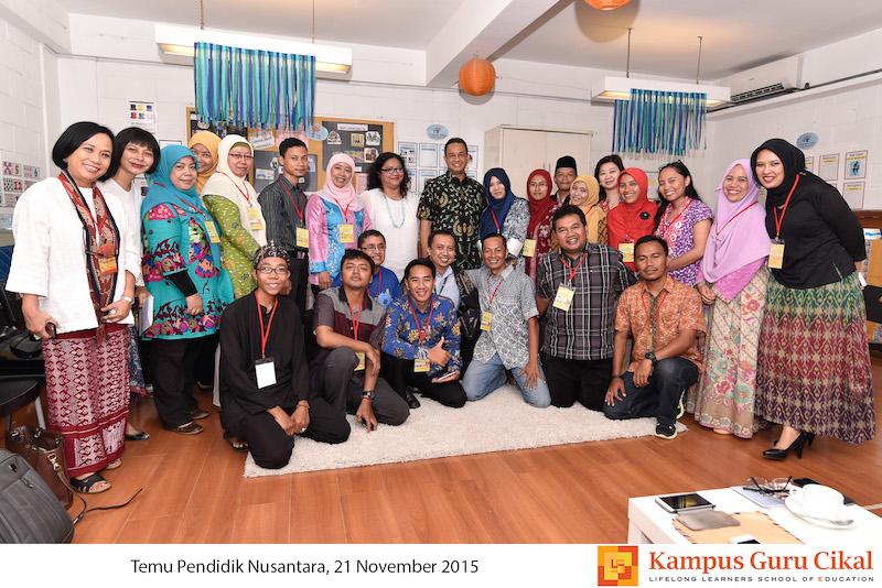 foto bersama Sarapan Pagi bersama menteri pendidikan guru belajar